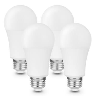 85-Watt Equivalent A19 9-Watt E26 Medium Base Full Spectrum LED Light Bulb in Daylight 5000k (4-Pack)