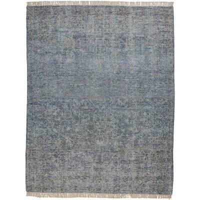 Ramey Aegean Blue/Gray 5 ft. x 8 ft. Oriental Wool Area Rug