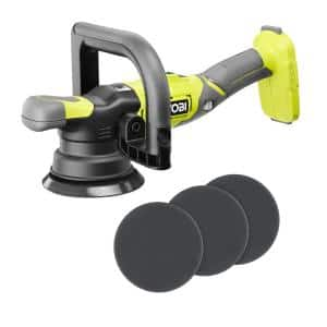 ONE+ 18V 5 in. Variable Speed Dual Action Polisher (Tool Only) w/3-Piece Foam Dual Action Polisher Finishing Pad Set