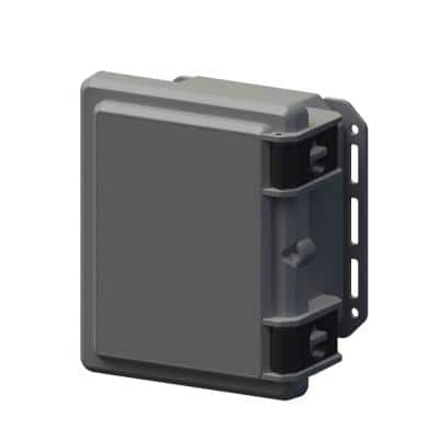 9.7 in. L x 8.2 in. W x 5.5 in. H Polycarbonate Gray Hinged Latch Top Cabinet Enclosure with Gray Bottom