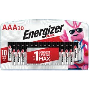 Energizer MAX Alkaline AAA Batteries, 30 Pack
