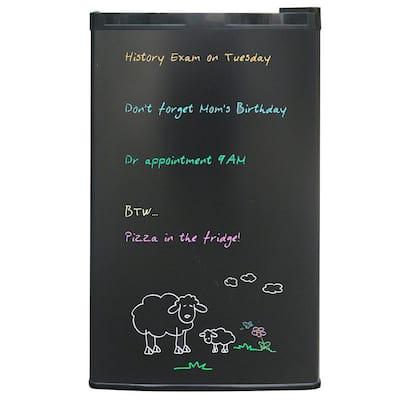 3.2 cu. ft. Eraser Board Mini Fridge in Black
