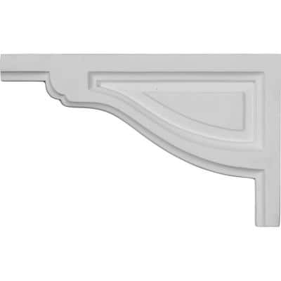 1/2 in. x 8 in. x 5 in. Polyurethane Left Small Traditional Stair Bracket Moulding