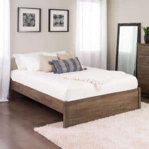 Select Drifted Gray Queen 4-Post Platform Bed