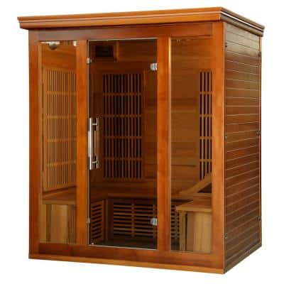 3 to 4-Person Cedar Elite Premium Sauna