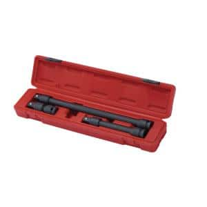 1/2 in. Drive Impact Locking Extension Set (3-Piece)