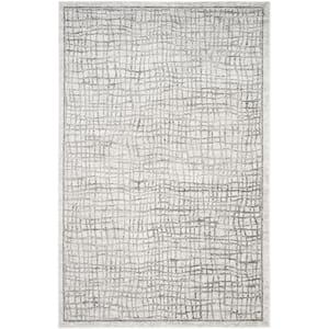 Adirondack Silver/Ivory 6 ft. x 9 ft. Area Rug