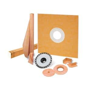 Kerdi-Shower-Kit 48 in. x 48 in. Shower Kit with ABS Flange