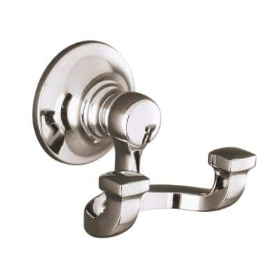 Bancroft Double Robe Hook in Vibrant Polished Nickel