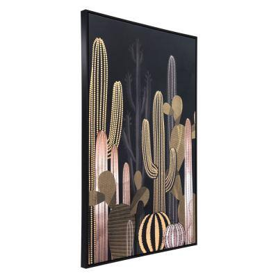 """""""Cactus At Dusk"""" Printed Canvas Abstract Wall Art3 2.7 in. x 48.4 in."""