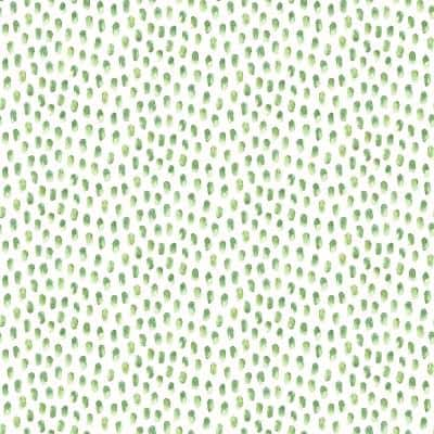 Sand Drips Green Painted Dots Paper Strippable Roll (Covers 56.4 sq. ft.)