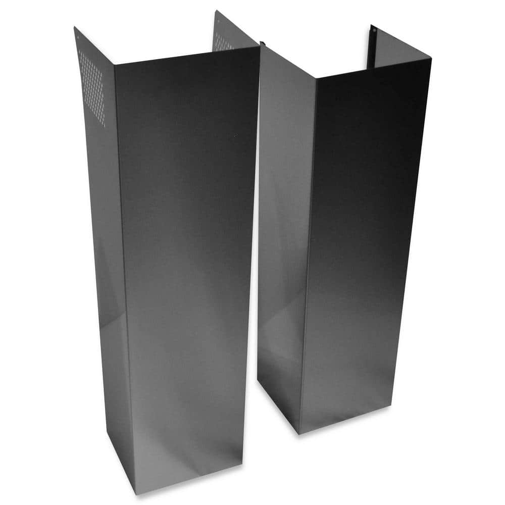 Island Hood Chimney Extension Kit In Stainless Steel Extkit18fs The Home Depot