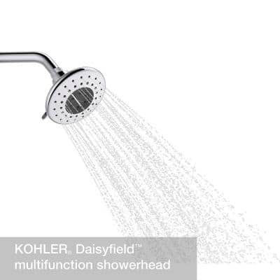 Daisyfield 6-Spray Patterns with 1.75 GPM 4.94 in. Wall Mount Fixed Shower Head in Polished Chrome