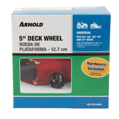 5 in. Universal Deck Wheel  for Riding Lawn Mowers and Zero Turn Mowers with Hardware Included