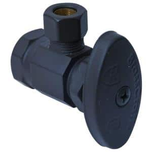 1/2 in. FIP Inlet x 3/8 in. Comp Outlet Multi-Turn Angle Valve in Oil Rubbed Bronze