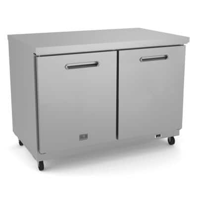 48 in. Under counter Reach-In Refrigerator, 2-door