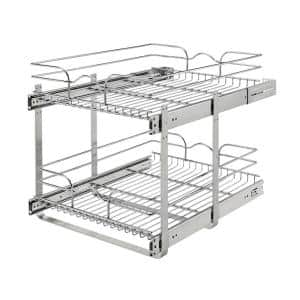 Pull Out Cabinet Organizers Kitchen Storage The Home Depot