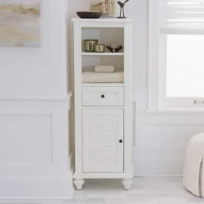 Hamilton 18 in. W x 52-1/2 in. H Bathroom Linen Cabinet in Ivory