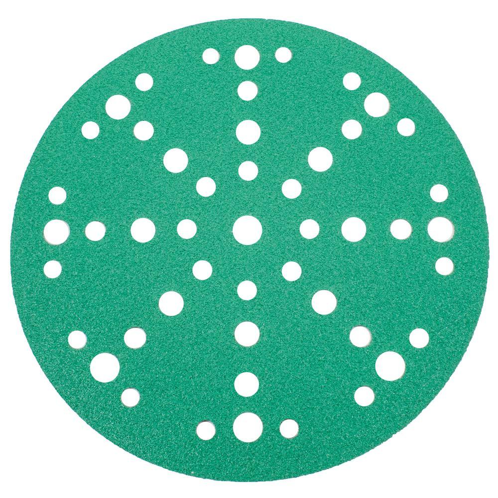 Green 6 in. Sanding Disc 120 Grit Medium (10-Pack)