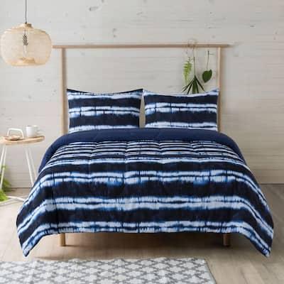 Tie Dye Stripe 2-Piece Polyester Twin Comforter Set