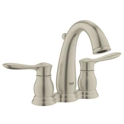 Parkfield 4 in. Centerset 2-Handle Bathroom Faucet in Brushed Nickel