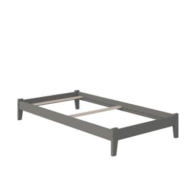 Concord Twin XL Traditional Bed in Grey