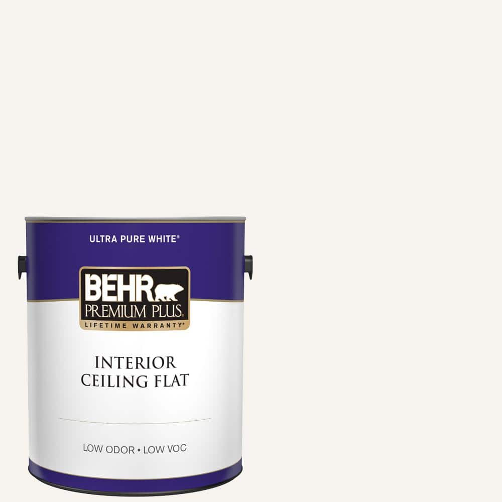 BEHR PREMIUM PLUS 1 gal. Ultra Pure White Ceiling Flat Interior Paint