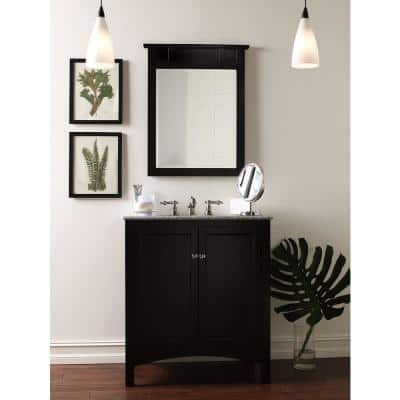 Haven 24 in. W x 22 in. D x 34 in. H Vanity Cabinet Only in Espresso