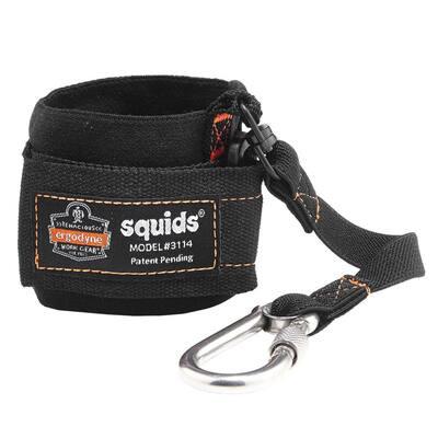 3 lbs. Black Pull-On Wrist with Carabiner Tool Lanyard
