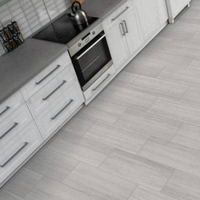 Silver Sands Grey 12 in. x 24 in. Matte Porcelain Floor and Wall Tile (13.62 sq. ft./Case)