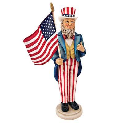 16.5 in. H Uncle Sam Yankee Doodle Dandy Grarden Statue