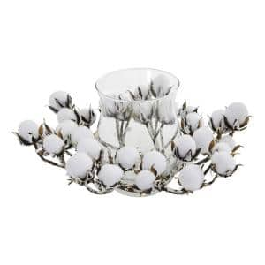 Cotton Artificial Arrangement Candelabrum