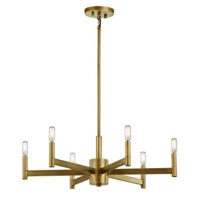 Erzo 6-Light Natural Brass Chandelier