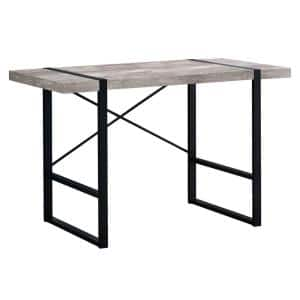 49 in. Rectangular Taupe/Black Writing Desk with Open Storage
