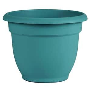 Ariana 8.75 in. Bermuda Teal Plastic Self-Watering Planter