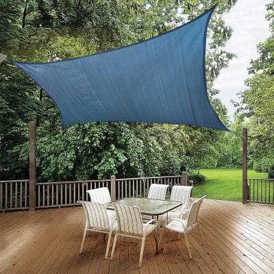 12 ft. x 12 ft. Blue Square Shade Sail