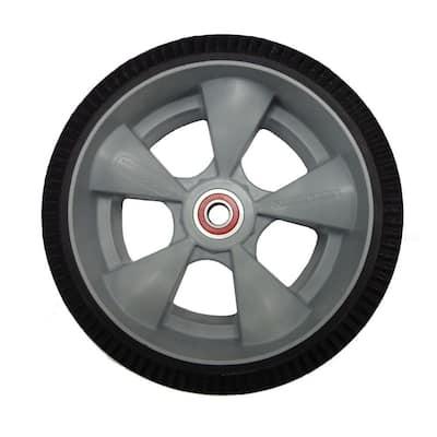 10 in. x 3-1/2 in. Hand Truck Wheel Interlocking Microcellular Foam with Sealed Semi-Precision Bearings