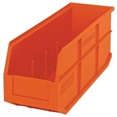 Stackable Shelf 13-Qt. Storage Tote in Orange (6-Pack)