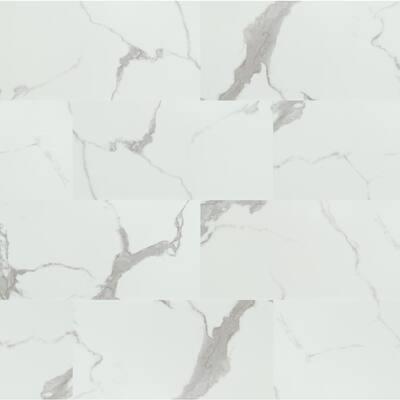 18 in. W x 36 in. L Calacatta Castellana Rigid Core Click Lock Luxury Vinyl Tile Flooring (27 sq. ft./case)
