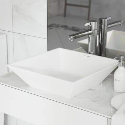 St. Tropez Square Vessel Sink in White
