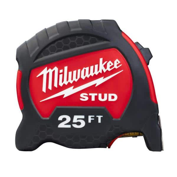 Milwaukee 25 ft. x 1.3 in. Gen II STUD Tape Measure with 17 ft. Reach   The Home Depot