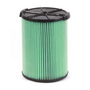 5-Layer HEPA Media Pleated Paper Filter for Most 5 Gal. and Larger Wet/Dry Shop Vacuums