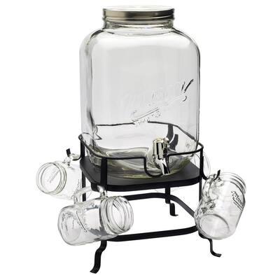 30 Gal. Glass Drink Dispenser Set - 6 Piece