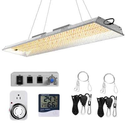 38 in. 2000-Watt Gray Dimmable Full Spectrum LED Grow Light Daylight with Daisy Chain, MeanWell Driver