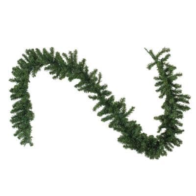 9 ft. x 10 in. Pre-Lit LED Canadian Pine Artificial Christmas Garland with Clear Lights