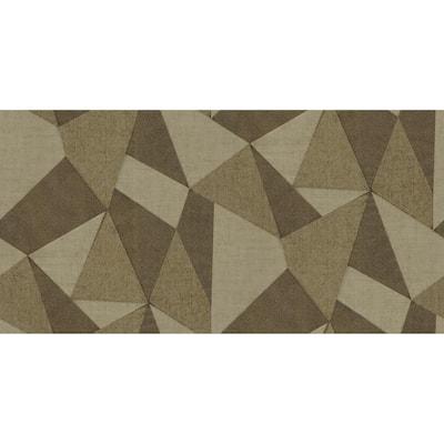 Vance Coffee Prism Beige Wallpaper Sample