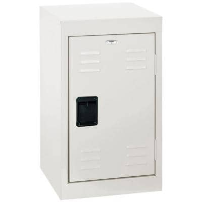 24 in. H Single-Tier Welded Steel Storage Locker in White
