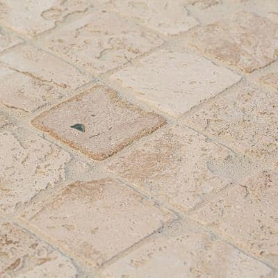 Light Travertine 12 in. x 12 in. Honed Travertine Wall and Floor Mosaic Tile (1 sq. ft./Each)