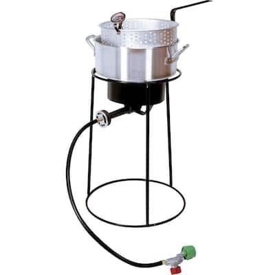 54,000 BTU Portable Propane Gas Outdoor Cooker with Aluminum Fry Pan