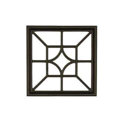 15 in. x 15 in. Square/Diamond Wrought Iron Insert for Wooden Gate